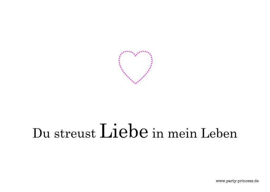 """Valentinskarte zum Ausdrucken """"Du streust Liebe in mein Leben"""""""