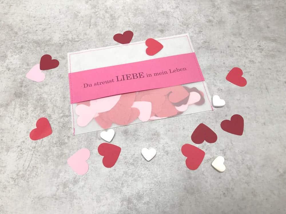 Valentinstag Brief basteln