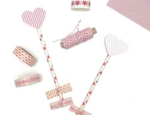 Süße Valentinstag Tischeko basteln