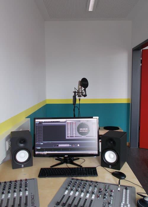 Das Tonstudio von Radio Feierwerk