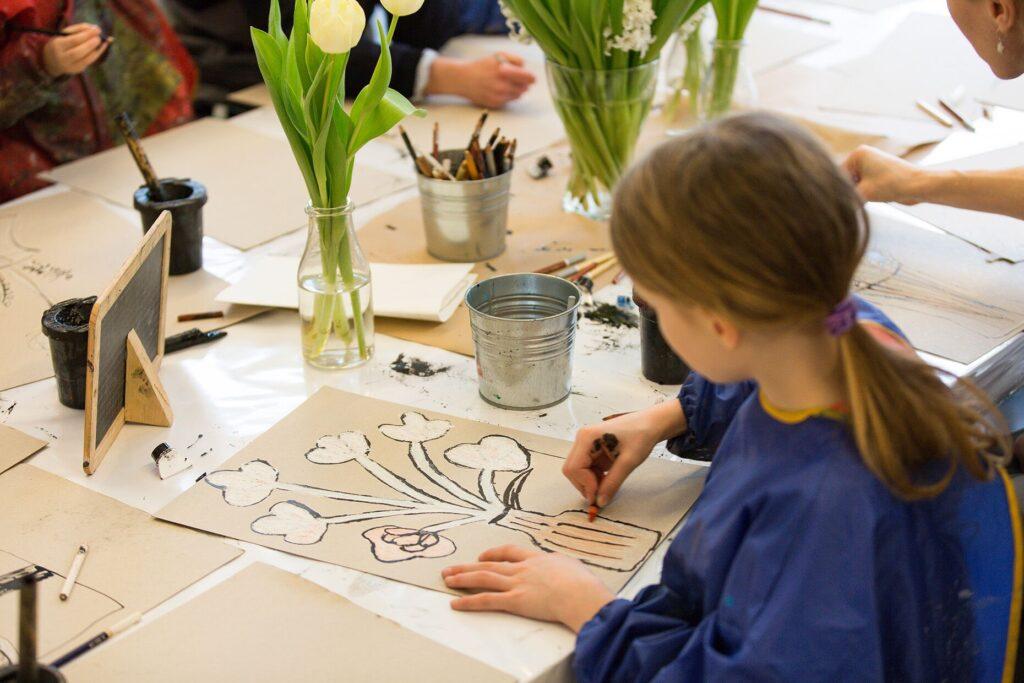 Kindergeburtstag Mal Workshop im Kinderkunsthaus München