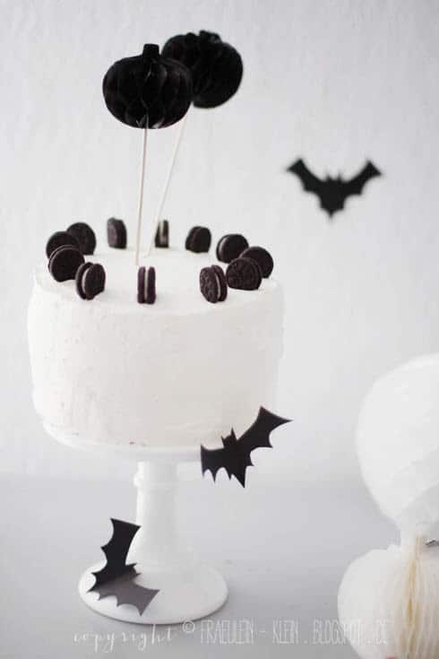 Halloween Torte mit Oreos
