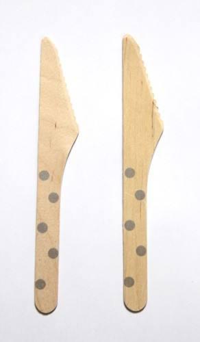 Holzmesser silber Punkte