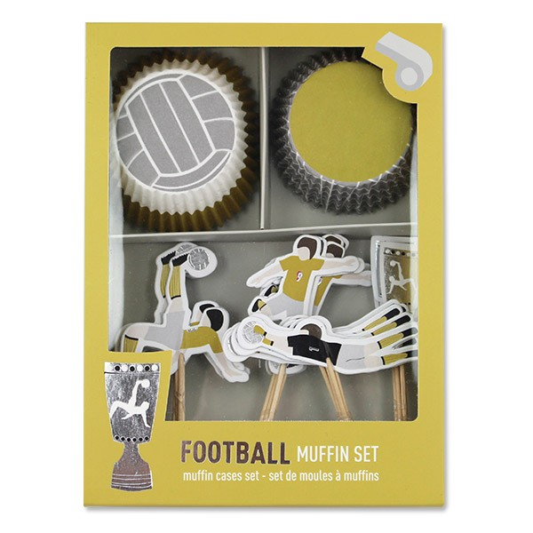 Ava & Yves Cupcakeset Fussball