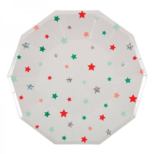 Meri Meri - Pappteller Weihnachten Stars