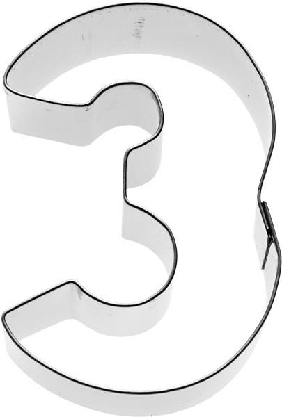 Plätzchenausstecher Zahl Drei