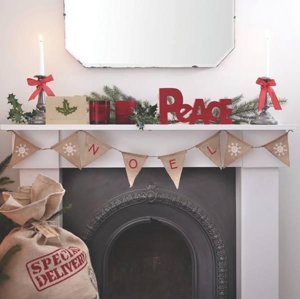 Weihnachtsgirlande Vintage Noel