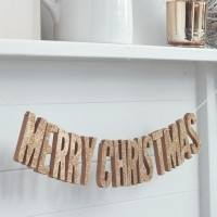 Christmas Metallics - Merry Christmas Girlande rosegold