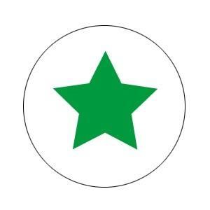 Aufkleber groß Stern grün