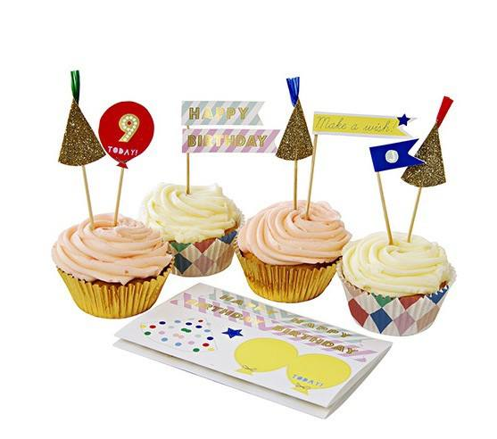 Meri Meri - Cupcake Set Happy Birthday Neu