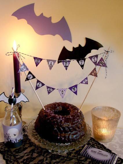 Bastelbogen Wimpelgirlande Halloween