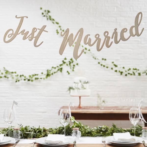 Botanics Holzgirlande Just Married