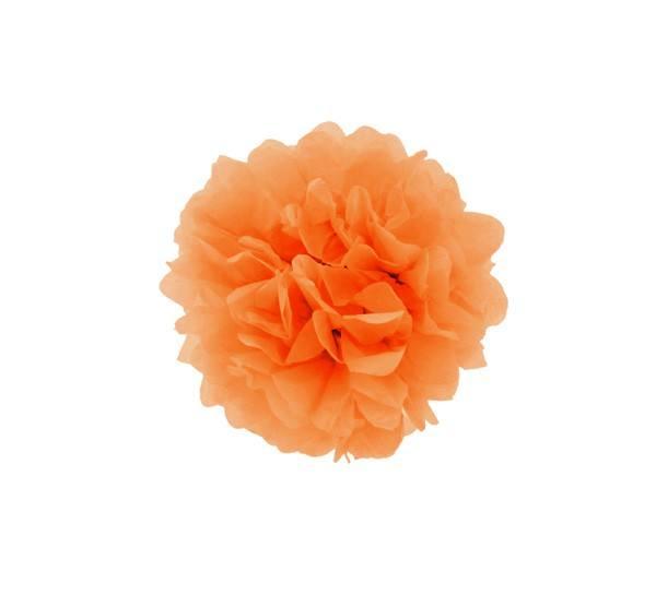 Pom Pom 25 cm rund orange