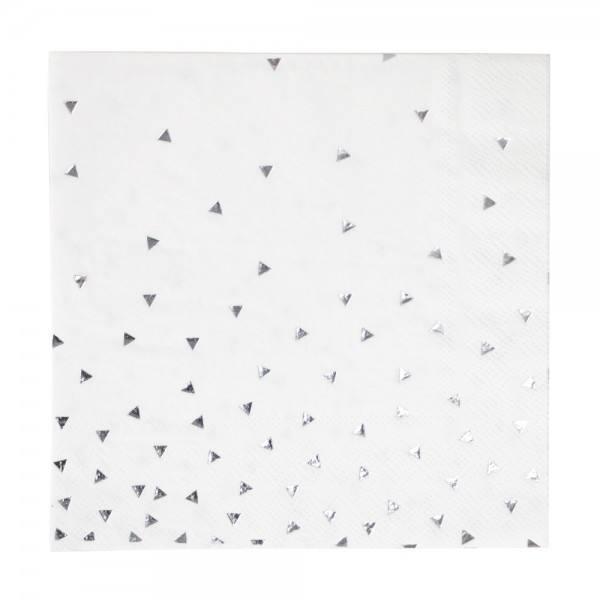 Little Servietten Dreiecke silber