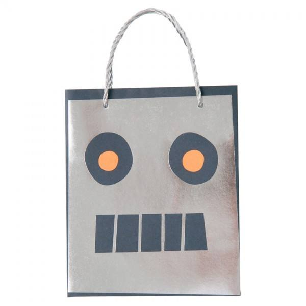 Meri Meri - Papiertüten Weltraum Roboter