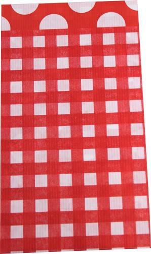 Papier Tüten Karo/Punkte rot