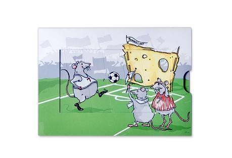 Krima & Isa - Schiebekarte Fussball