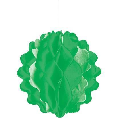 Wabenball länglich uni grün