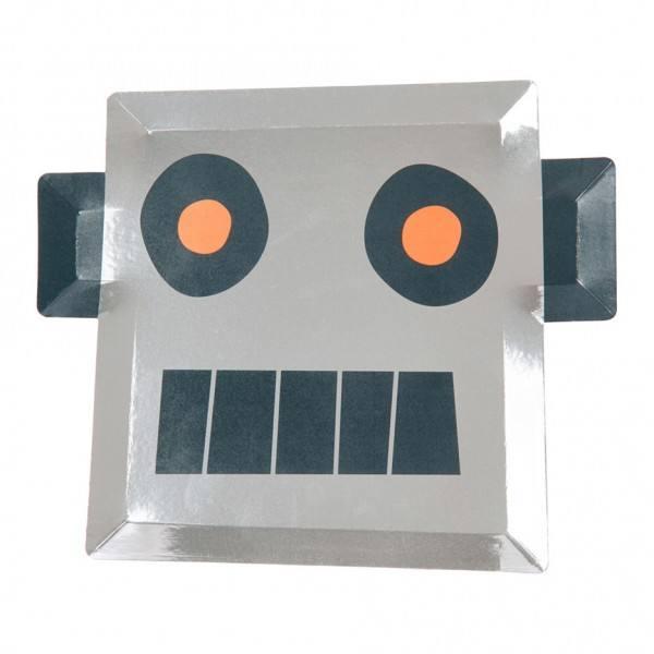 Meri Meri - Pappteller Weltraum Roboter