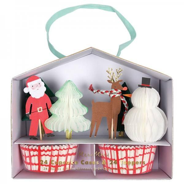 Meri Meri - Cupcake Set Weihnachten Santa