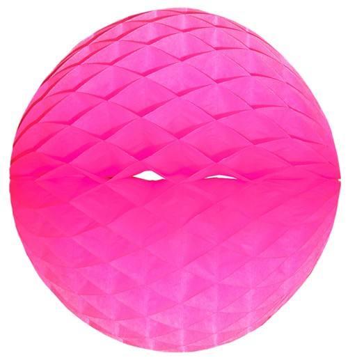 Wabenball neon pink div. Größen
