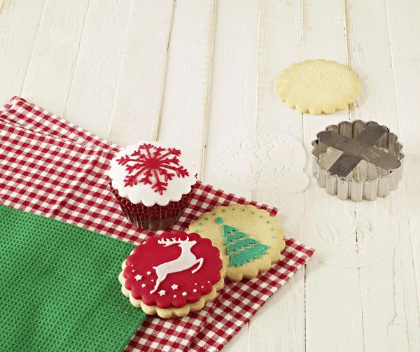 Schablonenset für Gebäck Weihnachten