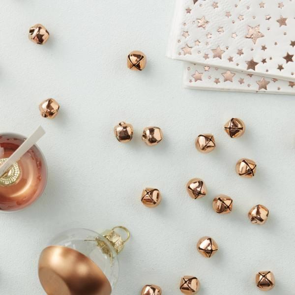 Metallic Star - Confetti Glöckchen rosegold
