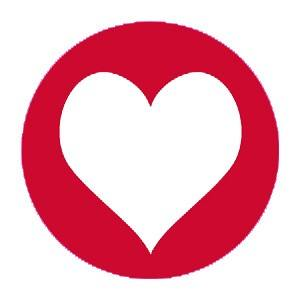 Aufkleber Herz rot
