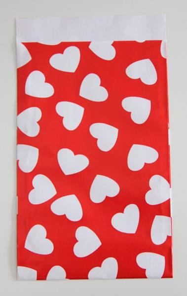Papier Tüten Herzen rot