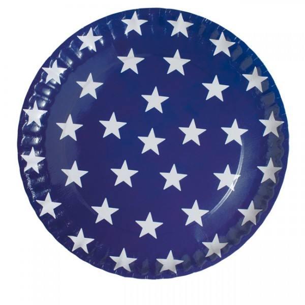 Krima & Isa - Teller blau Sterne