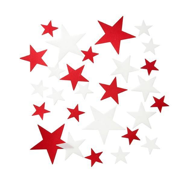Weihnachtskonfetti Sterne rot