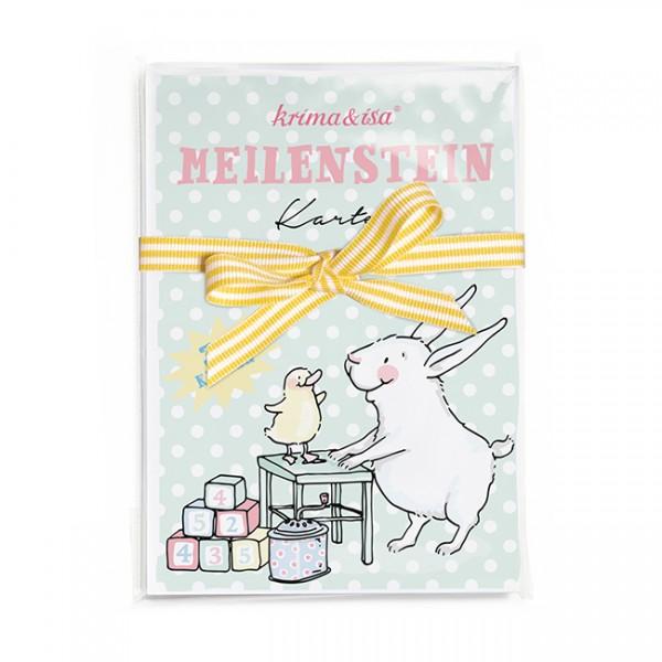 Krima & Isa - Meilenstein Karten Babytiere