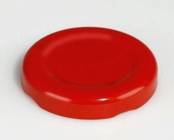 Deckel rot für Milchflaschen klein