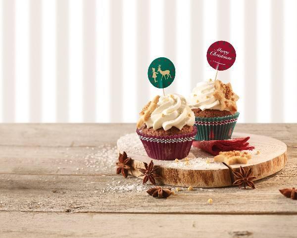 Cupcake Set nostalgische Weihnachten