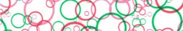 Maskingtape Kreise rosa, pink und grün