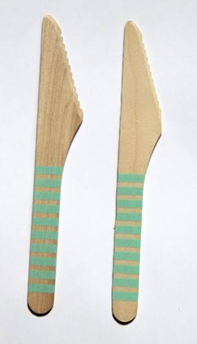 Holzmesser mint Streifen
