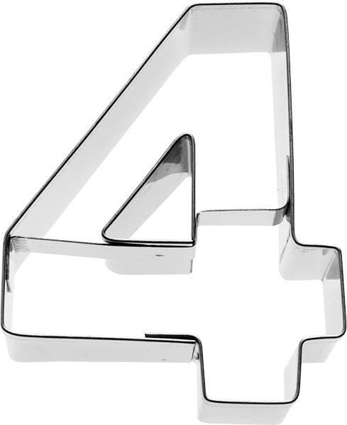Plätzchenausstecher Zahl Vier