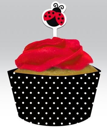 Cupcake Wrapper Marienkäfer