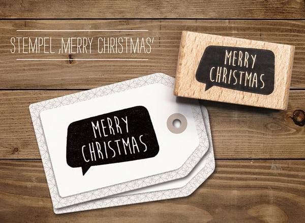 cats - Stempel Merry Christmas