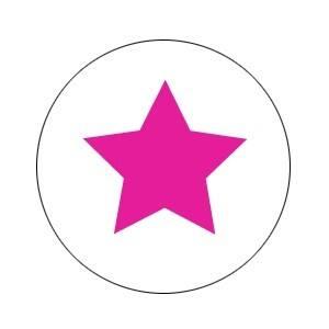 Aufkleber groß Stern pink