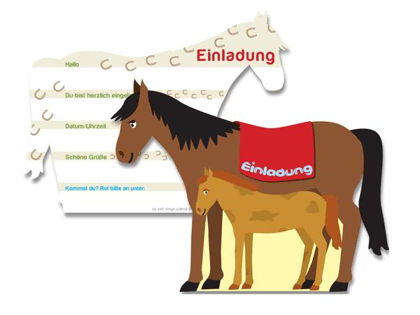 Einladungen Pferd