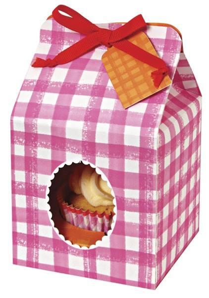 Meri Meri - Cupcake Box pink Vichykaro