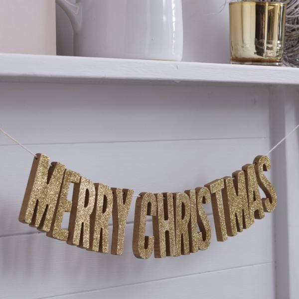 Christmas Metallics - Merry Christmas Girlande gold
