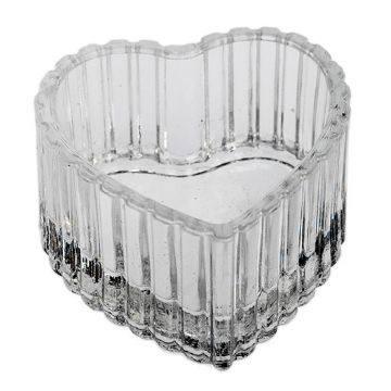 Glas Teelicht Herz
