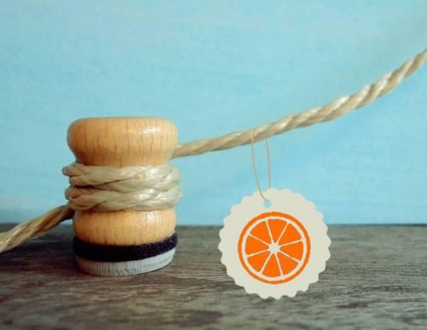 Stempel Orange oder Zitronen Scheibe