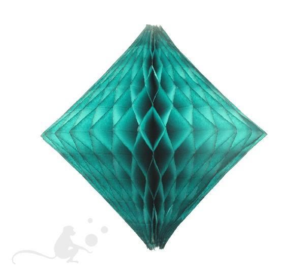 Wabenball Diamant 46 cm petrol