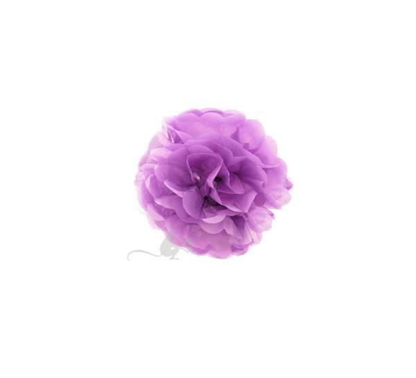 Pom Pom 15 cm rund lila