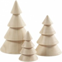 Tannenbäume aus Holz 4er Set