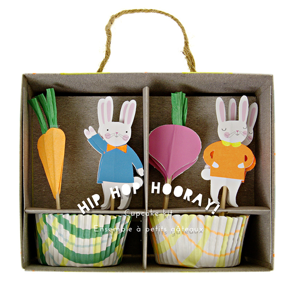Meri Meri - Cupcake Set Hop Hooray Ostern