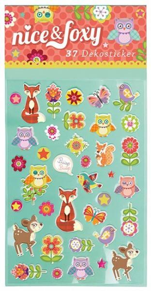 Sticker Fuchs Nice und Foxy